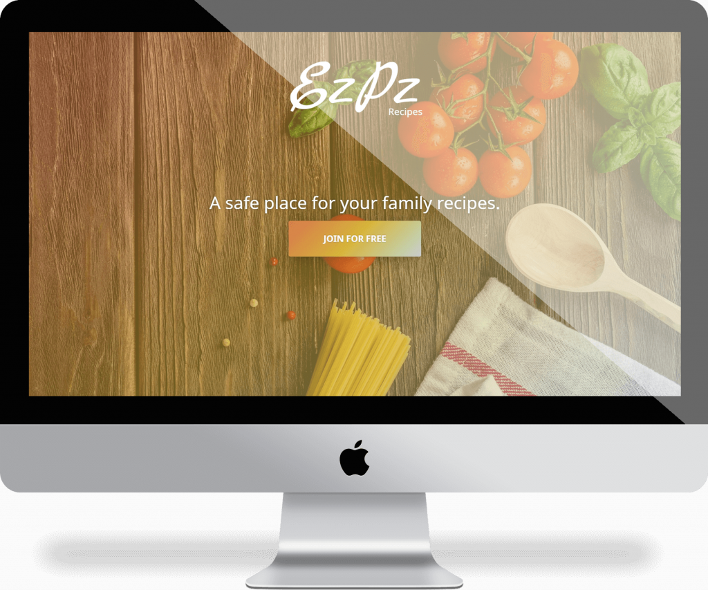EzPz Recipes - Responsive Design | Michael Palmer Web Design