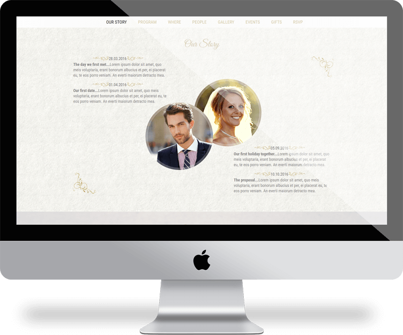 Wedding Day HTML Template | Michael Palmer Responsive Web Design